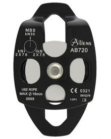 Aliens Big Double Pulley; aluminum